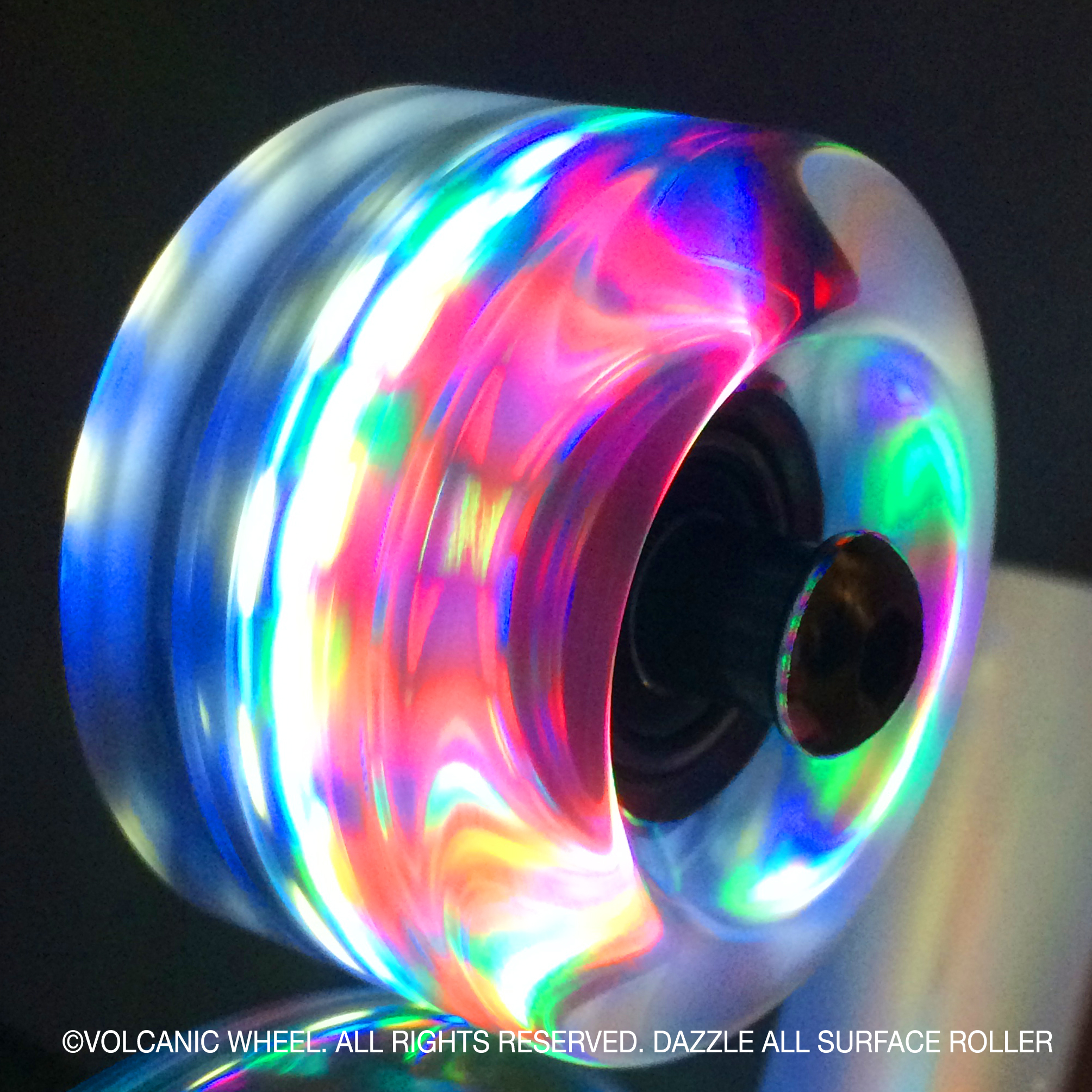 Volcanic Self Lightup Skate Wheels Quad Roller Indoor