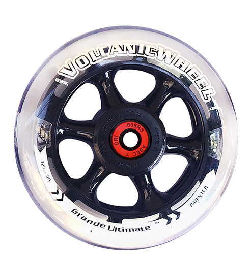 Volcanic Self Lightup Skate Wheels Grande Ultimate 5 125mm Inline